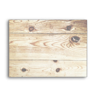 Rustic Country Wood Grain Invitation Envelopes