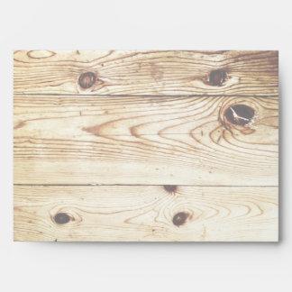 Rustic Country Wood Grain Invitation Envelopes
