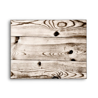 Rustic Country Wood Grain RSVP Envelopes