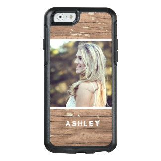 Rustic Country Wood Grain Style Personal Picture OtterBox iPhone 6/6s Case