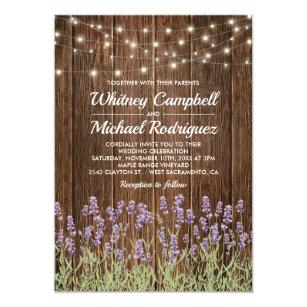 Purple Rustic Wedding Invitations Zazzle