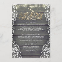 Rustic Country Wood Wedding Details - Information Enclosure Card