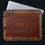 "Rustic Covers Victorian Charm<br><div class=""desc"">A typical design from the Victorian era.  It is worn but attractive with it&#39;s brilliant gilding and tactile leather.  Add your own initials to make this something special for your mobile device.</div>"
