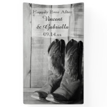 Rustic Cowboy Boots Country Western Wedding Banner