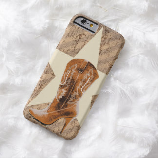 rustic cowboy boots cowgirl Texas star western Barely There iPhone 6 Case