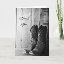 Rustic Cowboy Boots Wedding Groomsman Thank You