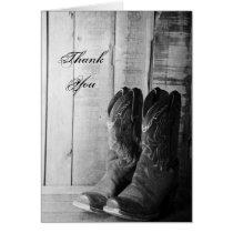 Rustic Cowboy Boots Wedding Groomsman Thank You