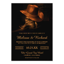 Rustic Cowboy Hat and Boots Wedding Invitation