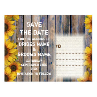 Rustic cowboy themed country style save the date postcard