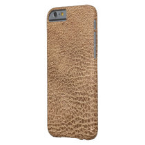 rustic cowboy Western country brown leather Barely There iPhone 6 Case