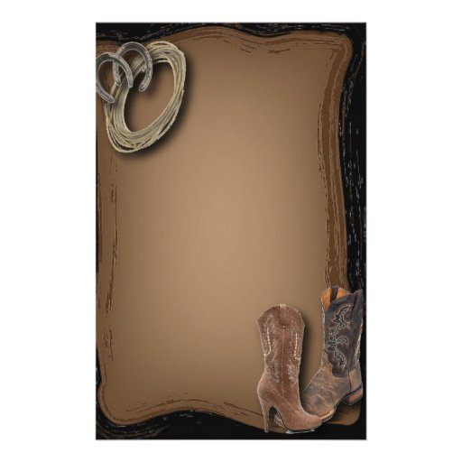 Rustic Cowboy Western Country Sationery Stationery