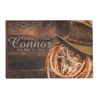 Rustic Cowboy Western Placemat