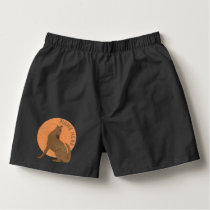 Rustic Coyote Southwest Faux Leather Fashion Boxers