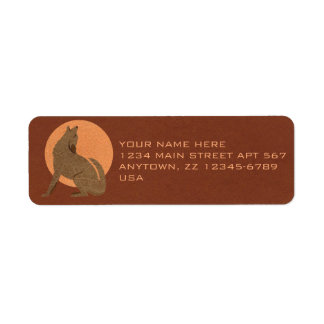 Rustic Coyote Southwest Faux Leather Small Label