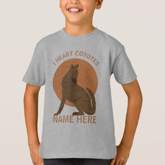 Rustic Coyote Southwest I Heart Coyotes T-Shirt
