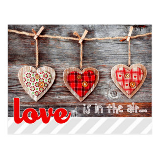 Rustic Craft Hearts Valentine's Day Postcards