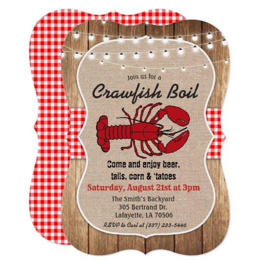 Rustic Crawfish Boil Invitation Zazzle Com