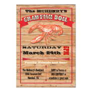 Rustic Crawfish Boil Party Poster Invitations at Zazzle