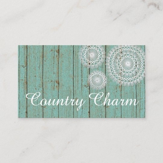 Rustic crochet doilies on turquoise farmhouse wood business card rustic crochet doilies on turquoise farmhouse wood business card reheart Image collections