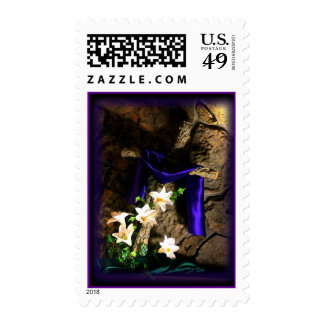 Rustic Cross Postage stamp- customize
