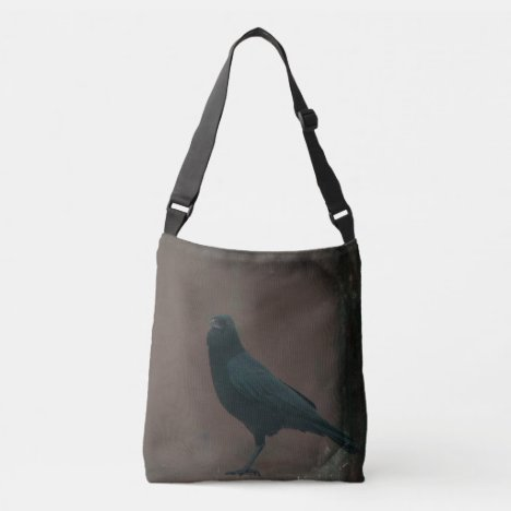 Rustic Crow Art Crossbody Bag
