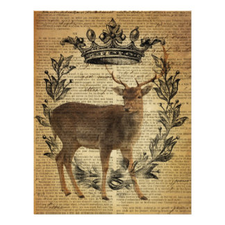 Rustic crown outdoorsman whitetail buck Deer Letterhead