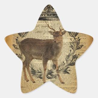 Rustic crown outdoorsman whitetail buck Deer Star Sticker