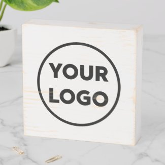 Rustic Custom Business Company Logo Promotional Wooden Box Sign