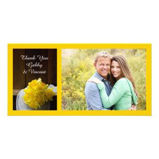 Rustic Daffodils and Barn Wood Wedding Thank You Card