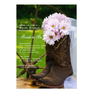 Rustic Daisies Country Bridal Shower Invitation