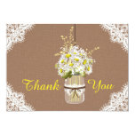 Rustic Daisies Lace Thank You Card