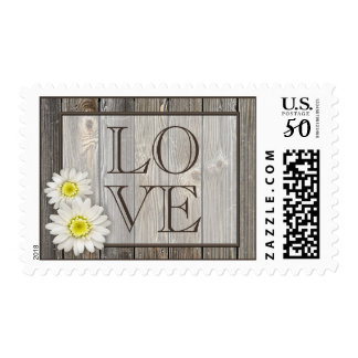 Rustic Daisies Love Stamps