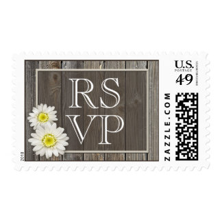 Rustic Daisies RSVP Stamps