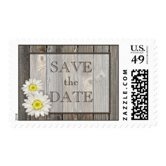 Rustic Daisies Save the Date Stamps