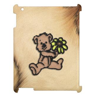 Rustic Daisy Bear Design iPad Cases