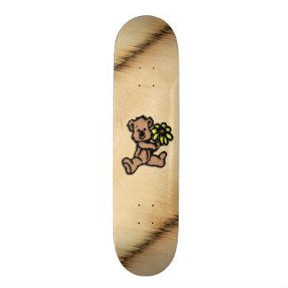 Rustic Daisy Bear Design Skateboard