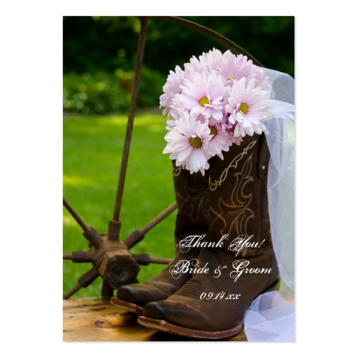 Rustic Daisy Country Wedding Favor Tags Business Cards