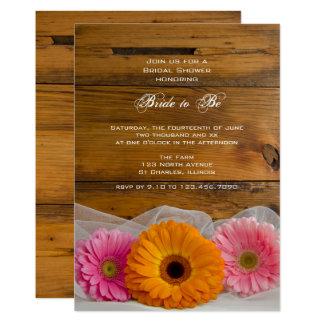 Rustic Daisy Trio Country Bridal Shower Invitation
