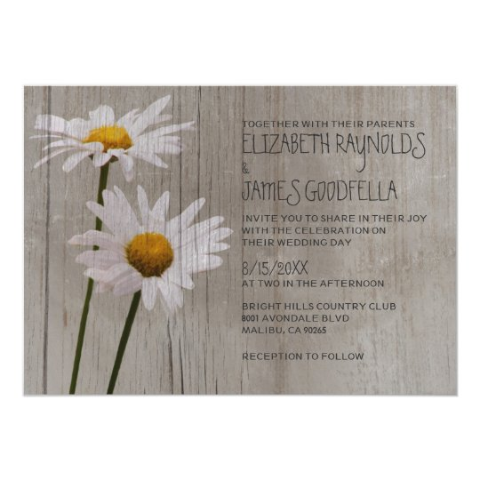 rustic daisy wedding invitations - Daisy Wedding Invitations