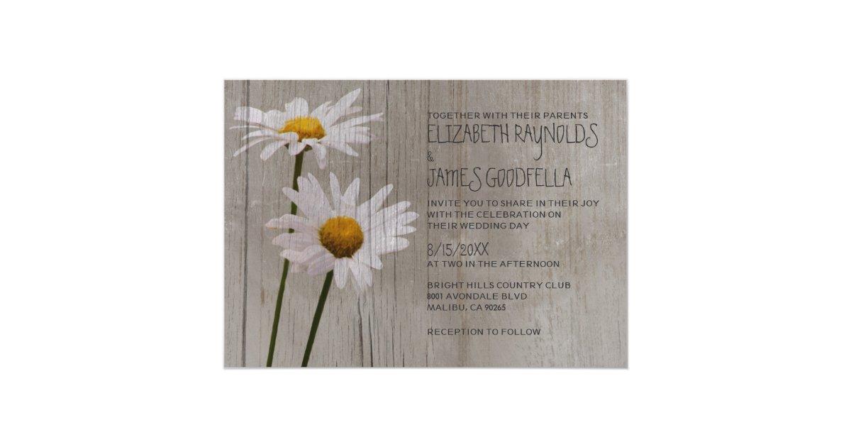 Daisy Wedding Invitations | Zazzle