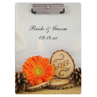 Rustic Daisy Woodland Wedding Planning Clipboard