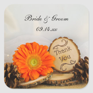Rustic Daisy Woodland Wedding Thank You Favor Tags