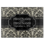 Rustic Damask Pattern in Black and Parchment Cutting Boards