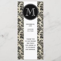 Rustic Damask Pattern in Black and Parchment Program