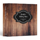 Rustic dark barn wood appointment book 3 ring binder