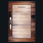 """Rustic dark barn wood pattern personalized dry erase board<br><div class=""""desc"""">Rustic dark wood,  country pattern background,  Dry erase board. Add your own name to personalize this board.</div>"""