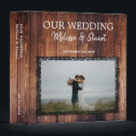 "Rustic dark barn wood photo Wedding album 3 Ring Binder<br><div class=""desc"">Rustic dark barn wood photo Wedding album 3 ring binder. You can add your own photo at the front to personalize the album and make it very personal and unique. Add your own text at the front and add the spine.</div>"