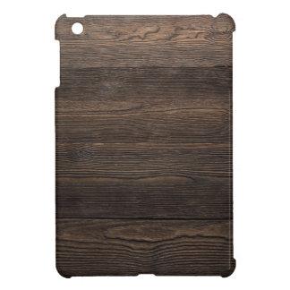 Rustic Dark brown WOOD LOOK texture iPad Mini Cover