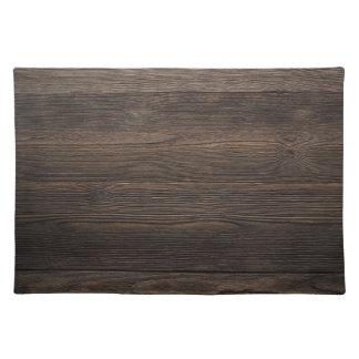 Rustic Dark brown WOOD LOOK texture Placemat