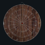 """Rustic Dark Brown Wood Wooden Fence Country Style Dartboard<br><div class=""""desc"""">Rustic Dark Brown Wood Wooden Fence Photography Country Style Gift</div>"""